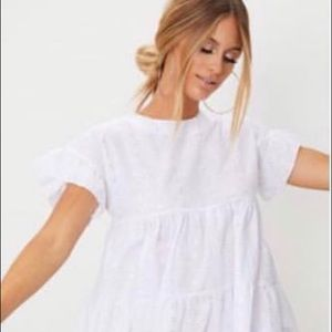 White babydoll smock dress